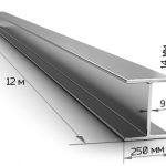 Балка двутавровая 35Ш2 12 метров